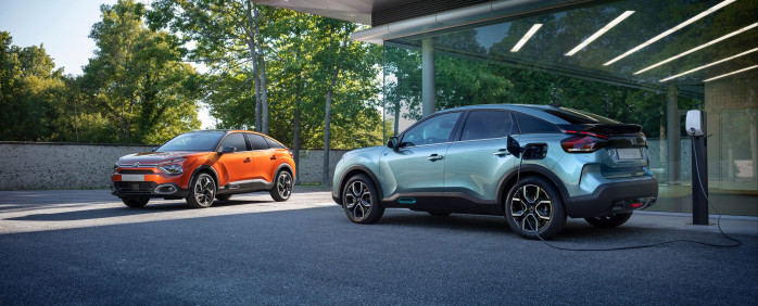 New ë-C4  - 100% electric and New C4 : New generation Citroën  hatchback unveiled in preview images