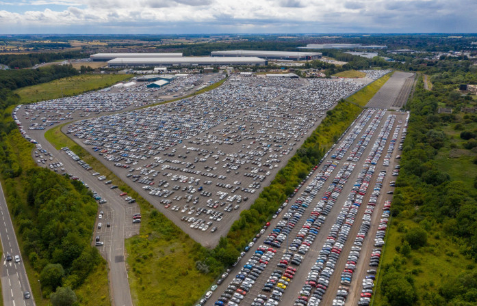 Thousands of cars put into storage because of pandemic