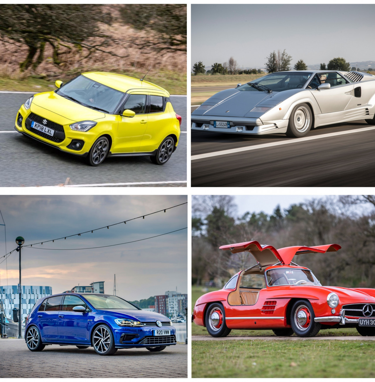 Are modern hot hatches as fast as iconic supercars of the past?