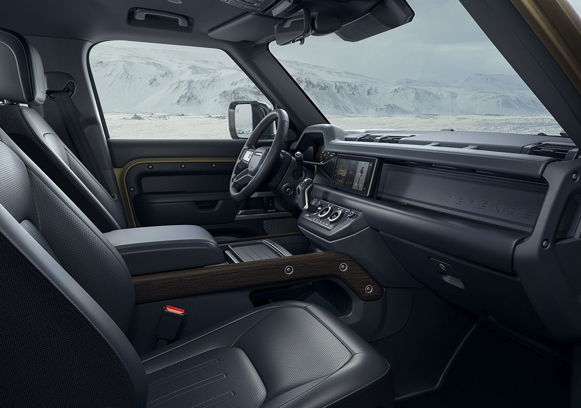 interior of the new land rover defender