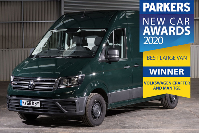 Volkswagen Crafter retains Parkers' best van title for third year running