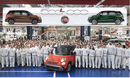 500,000th Fiat 500L rolls off the production line