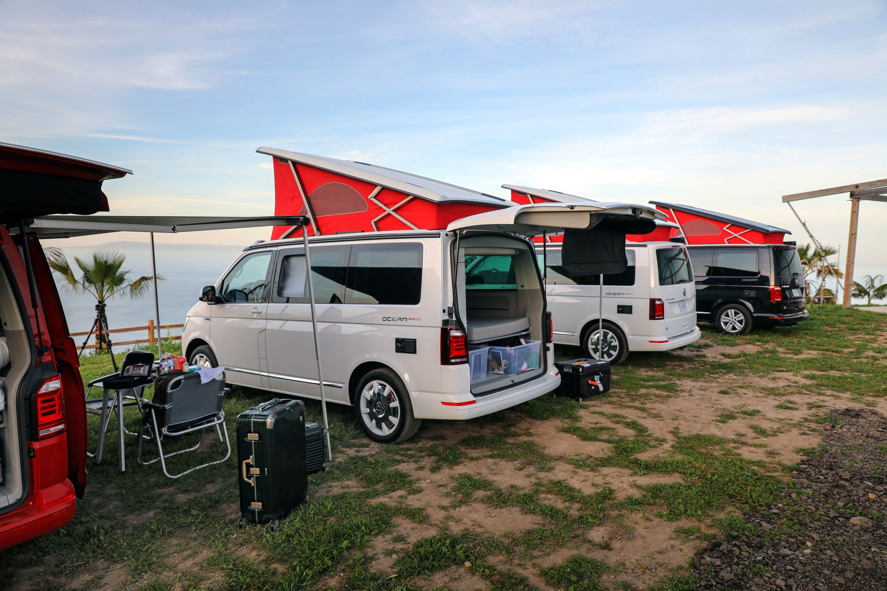 Camping in VW California campervans