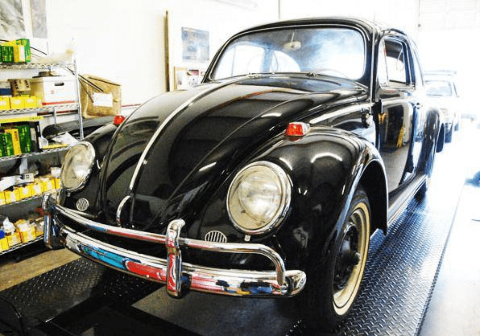 Front view of pristine 1964 Beetle