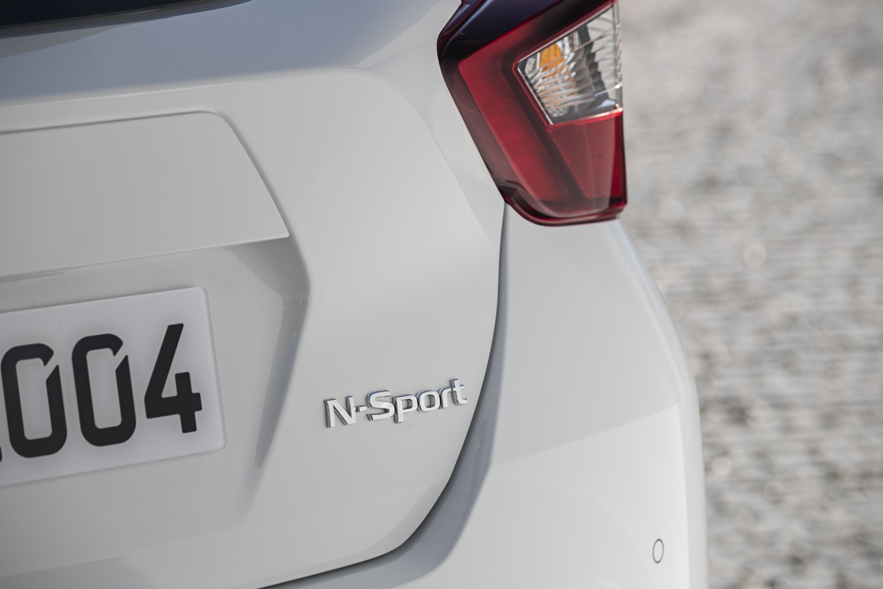 Close up of N-SPort badge on Nissan Micra