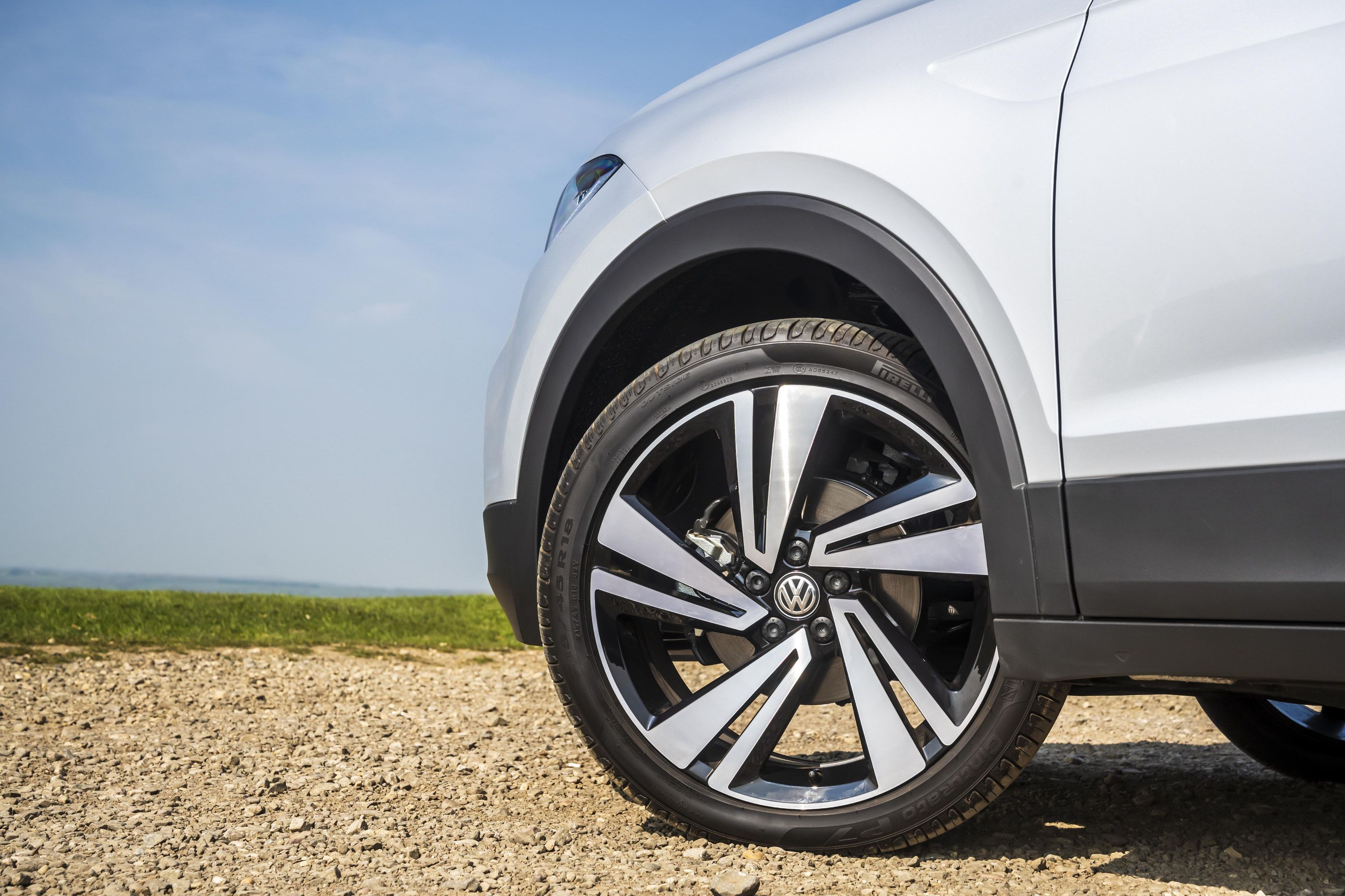 Close up of the Alloy wheel on the VW T-cross