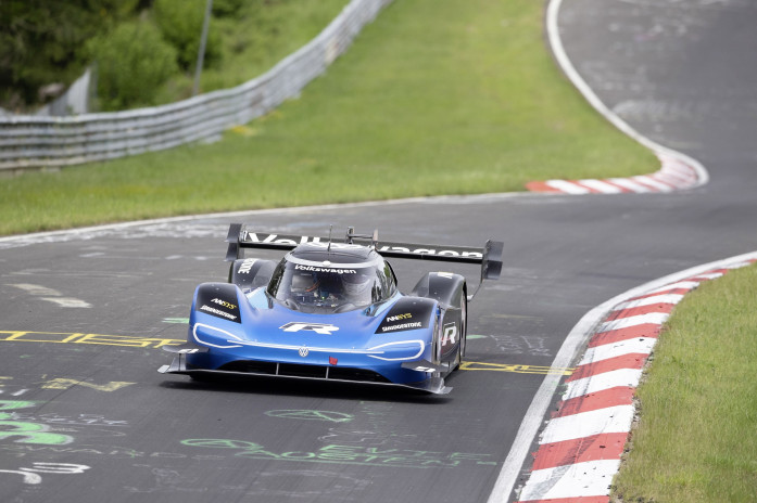 Volkswagen ID.R sets new electric record on the Nürburgring