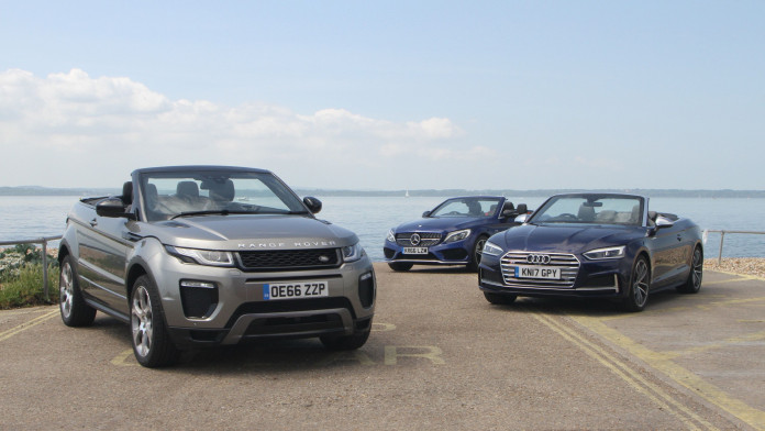 Battle of the soft-tops: Mercedes-AMG C43 Cabriolet v Audi S5 Cabriolet v Range Rover Evoque Convertible