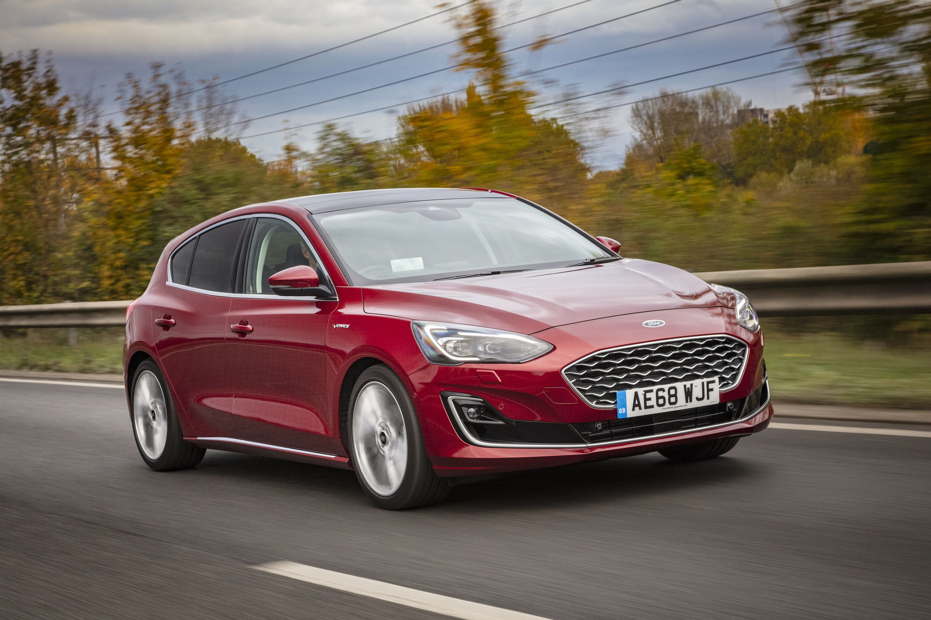 Ford Focus Vignale driving on a road