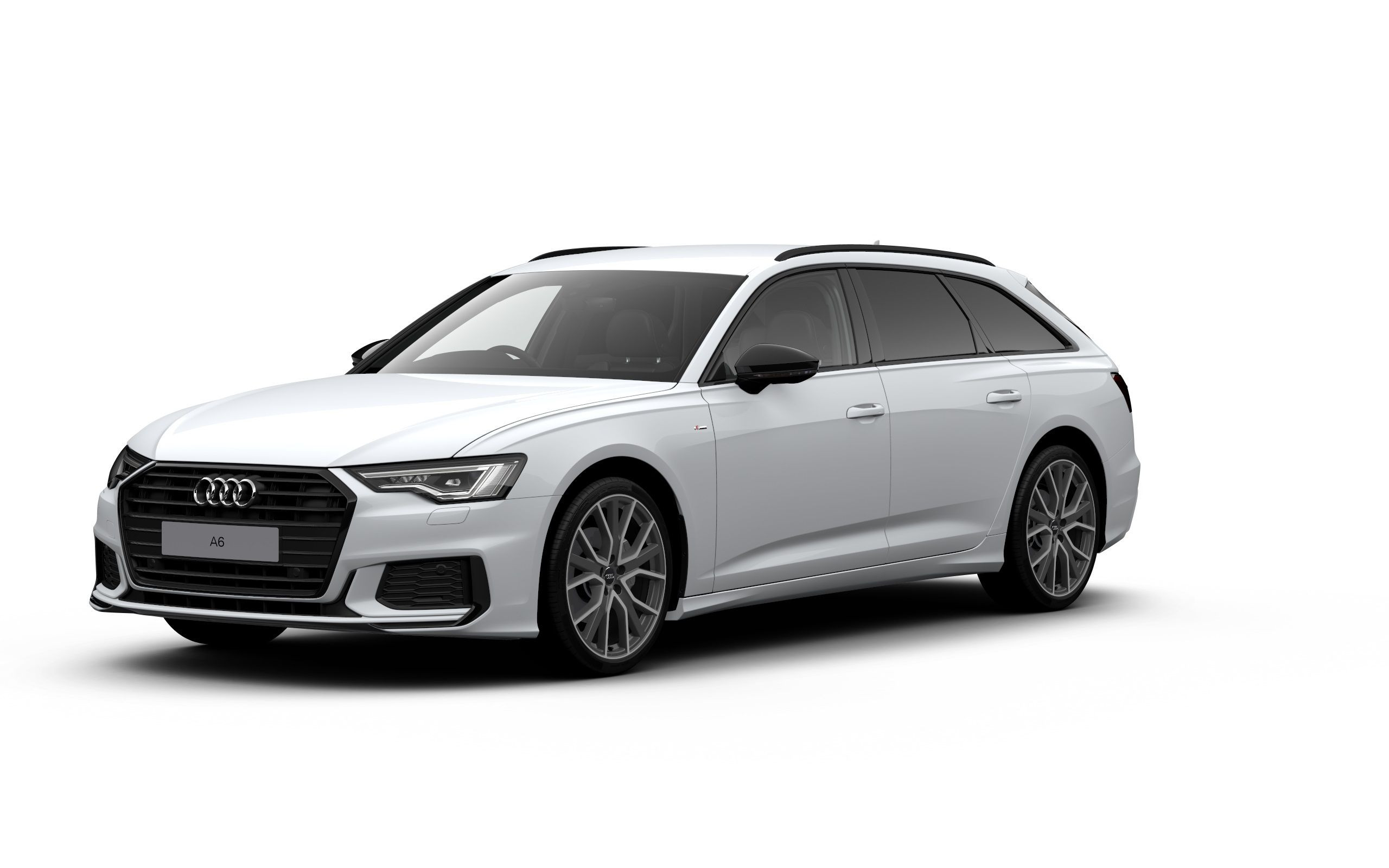 Front view of Audi Black edition A6 avant.
