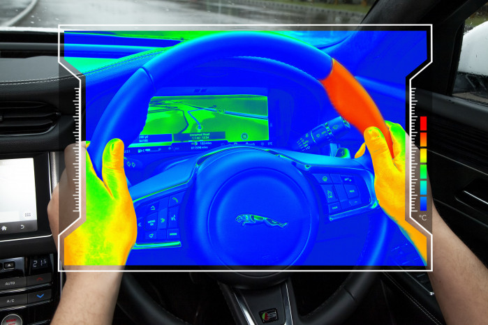 Sensory steering wheel keeps your eyes on the road