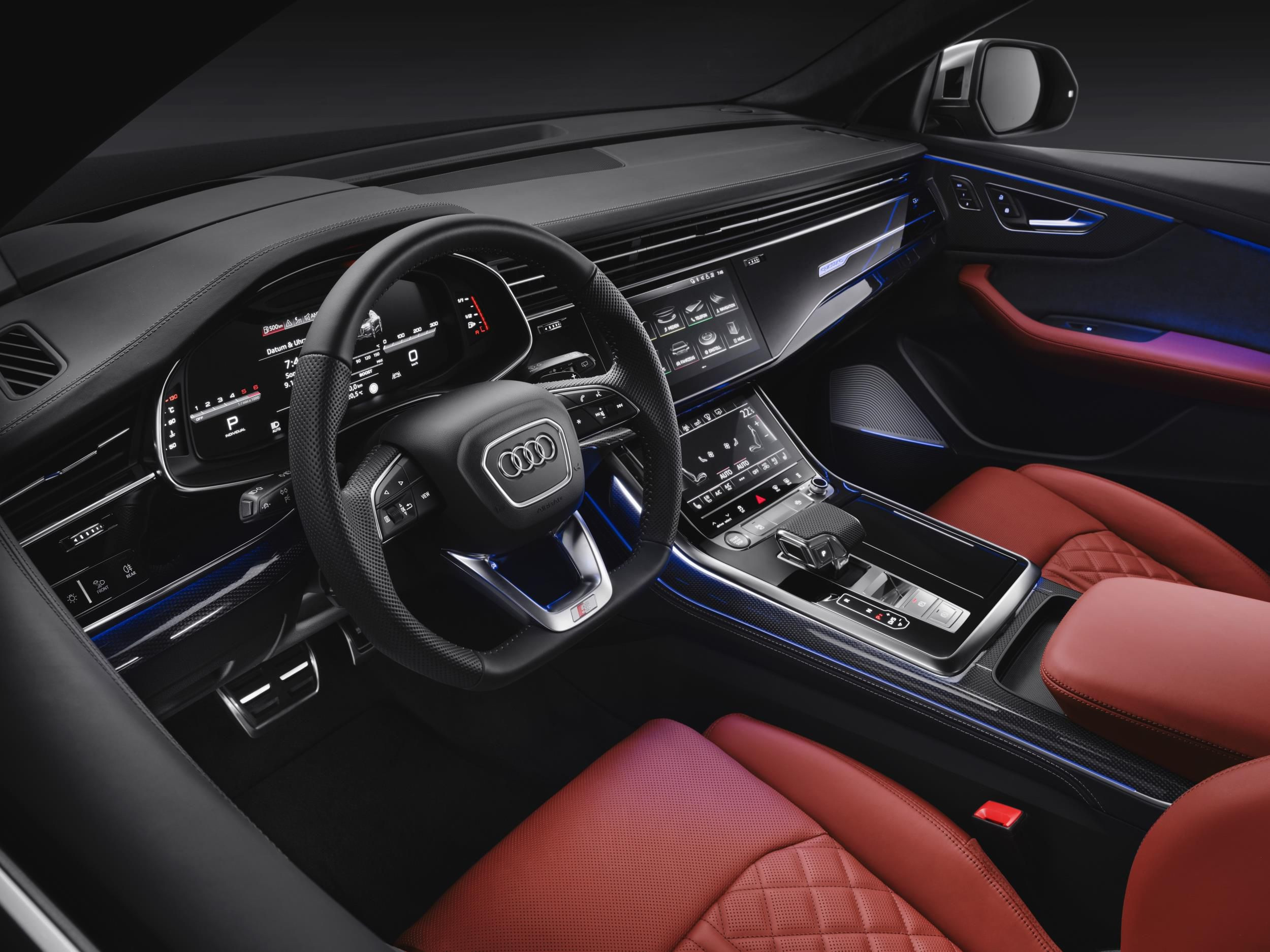Interior of Audi SQ8