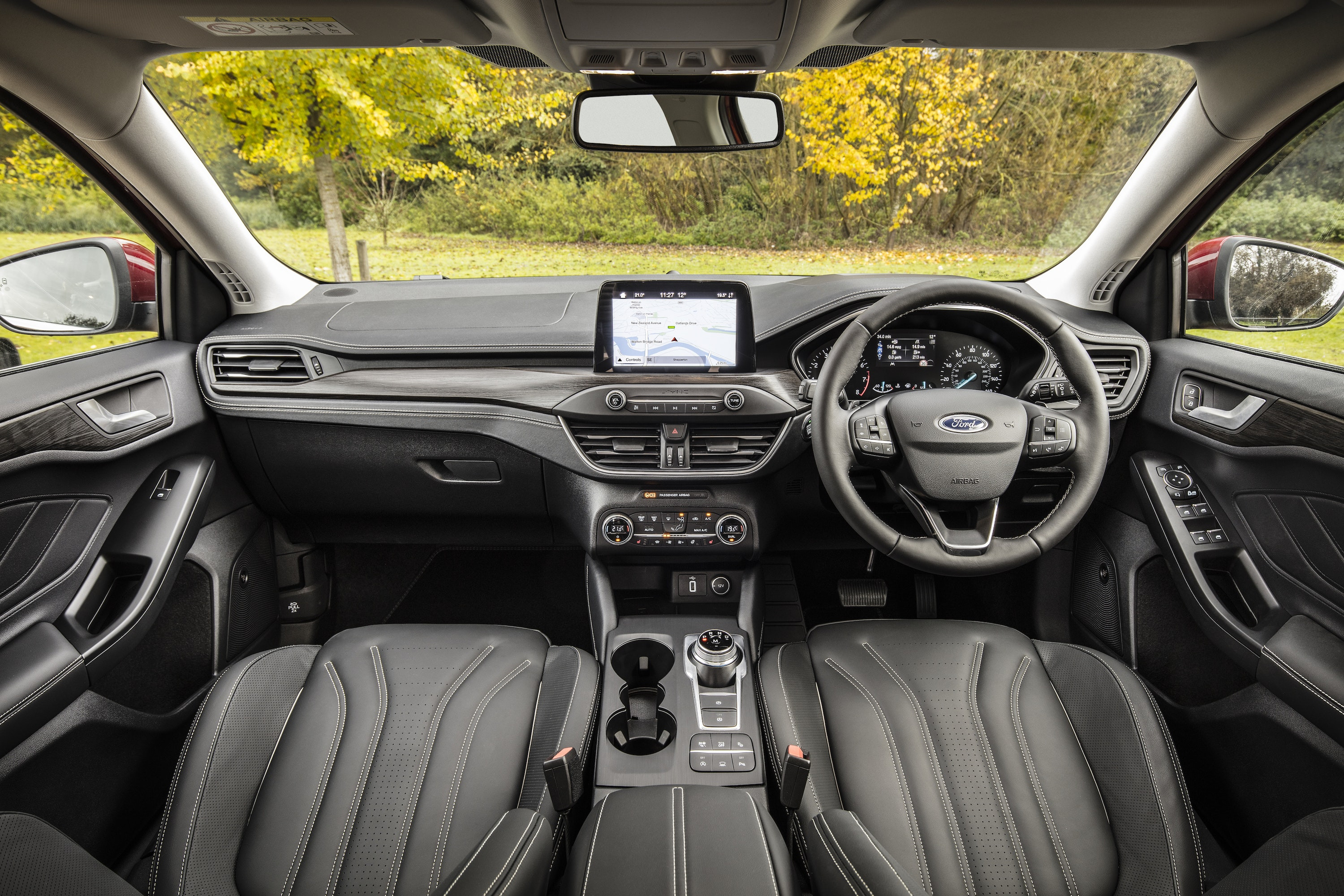 Interior of Ford Focus Vignale