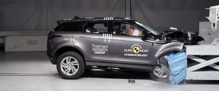Range Rover Evoque takes top Euro NCAP honours