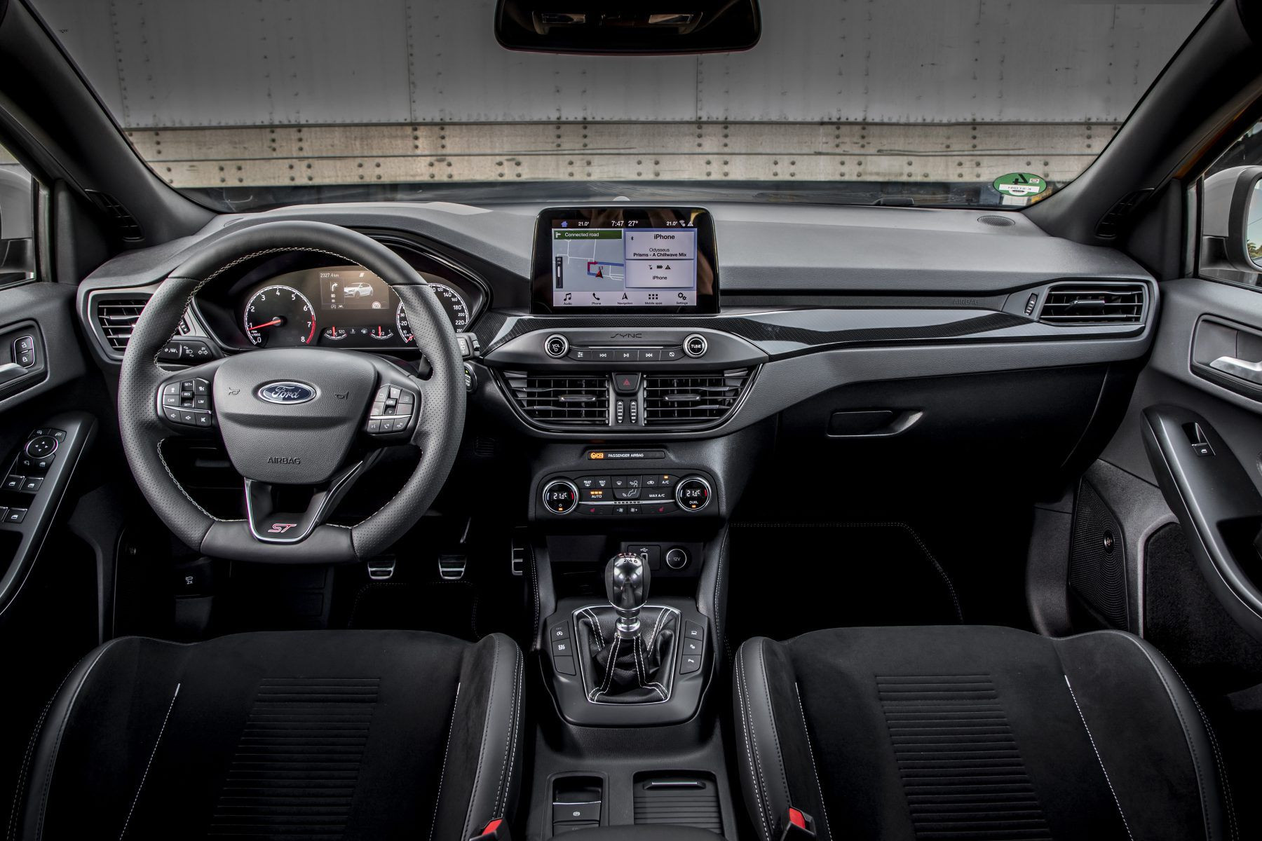 inside of Ford Focus ST