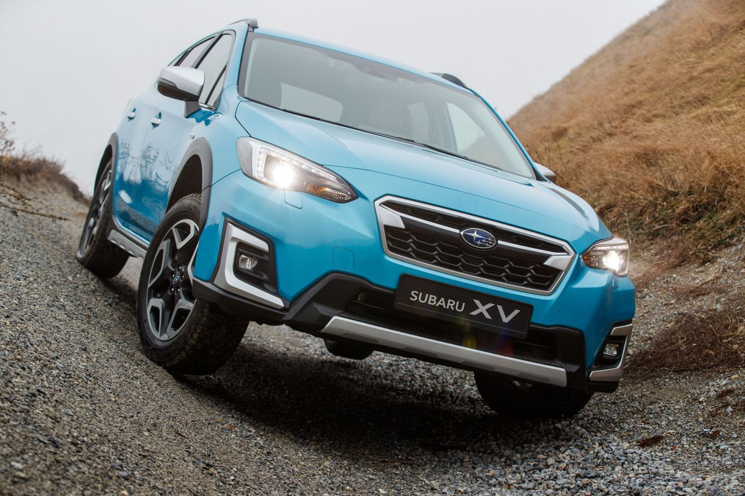 LIght Blue Subaru XV