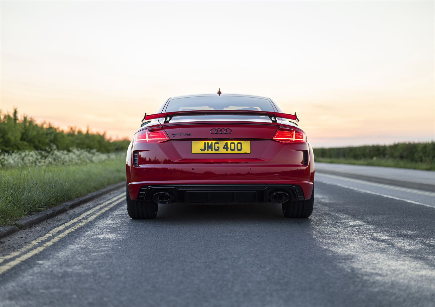 Rear view of the Audi TT RS