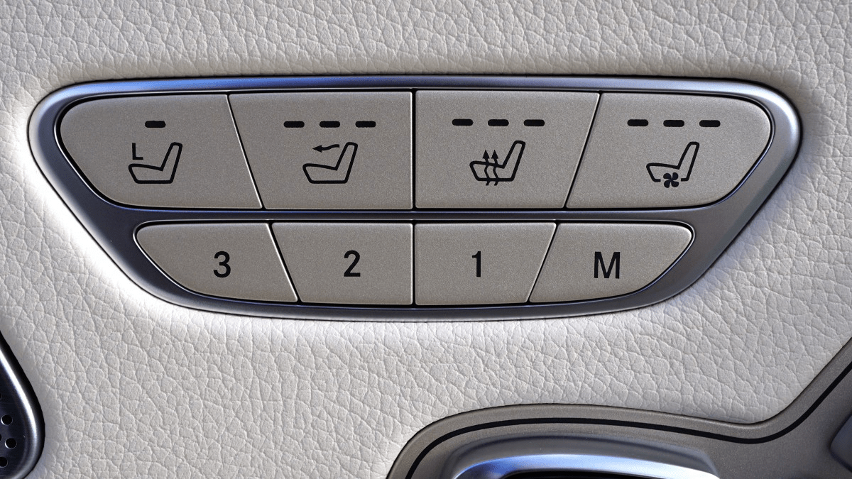 Buttons for heated seats