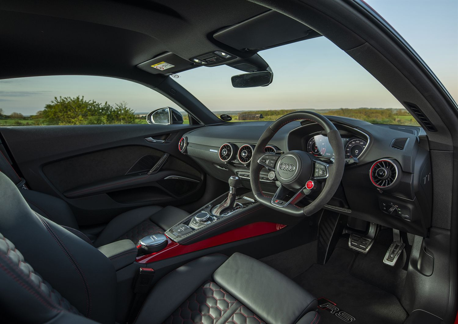 Interior of the Audi TT RS
