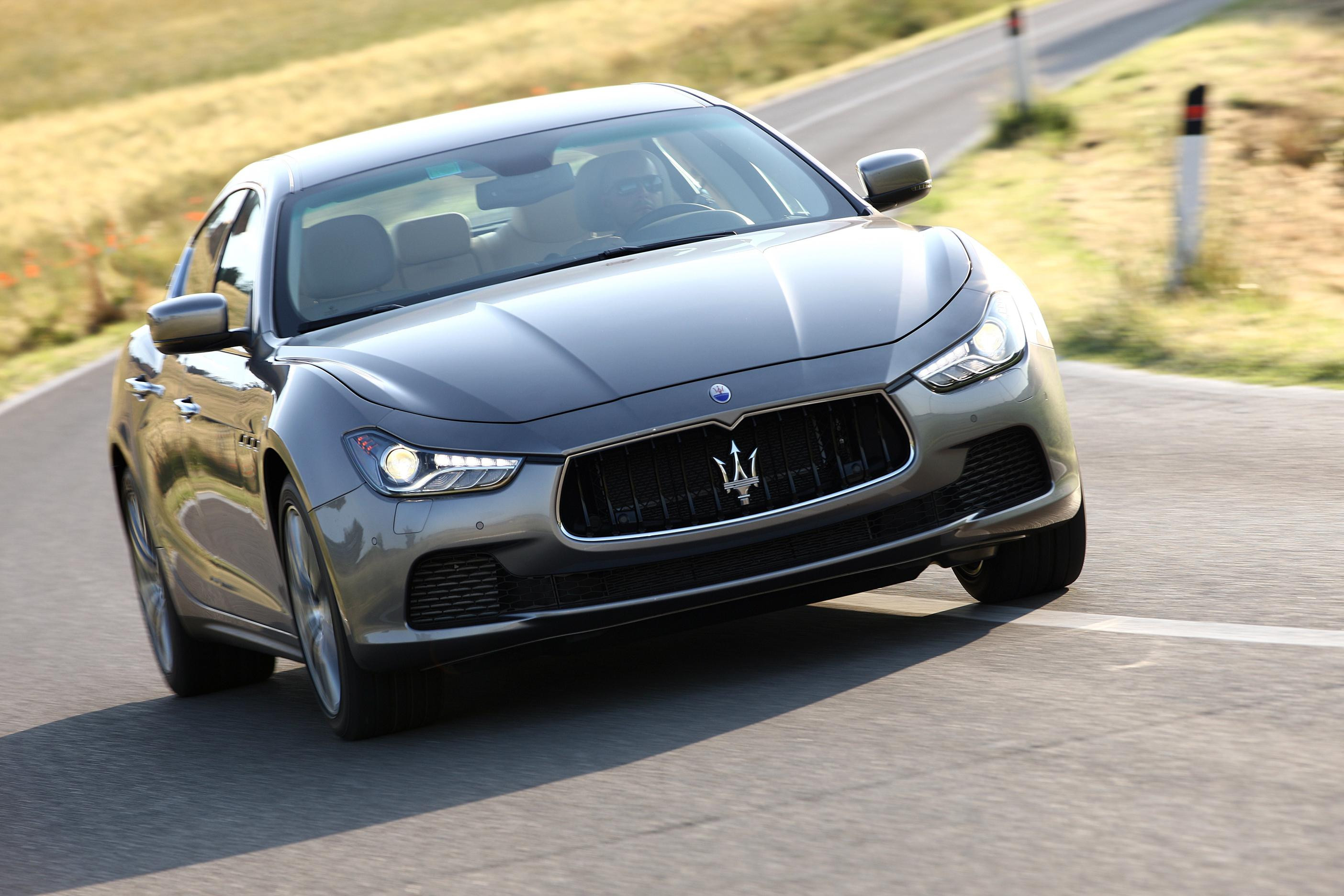 Maserati Ghibli driving on a road