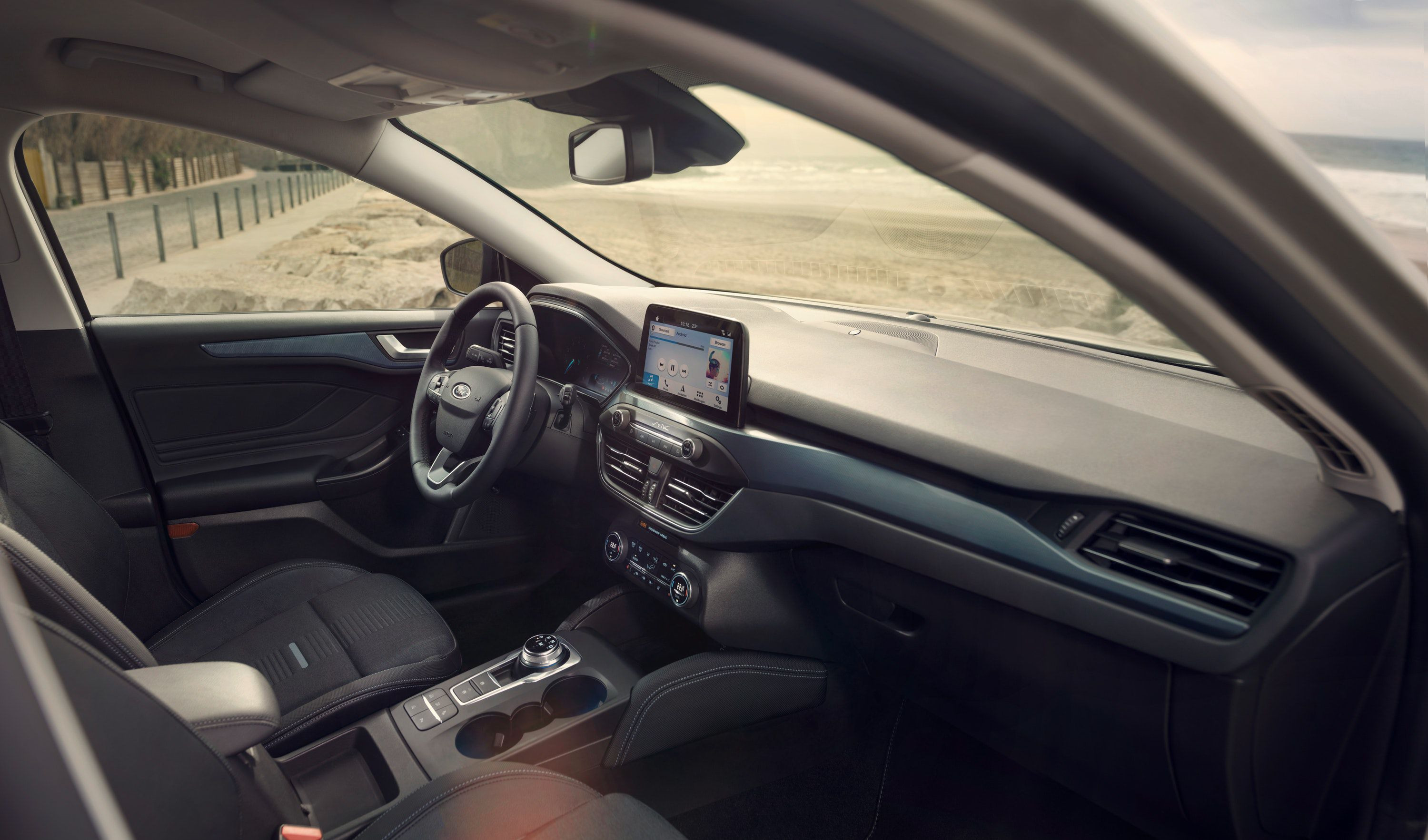 interior of ford focus active