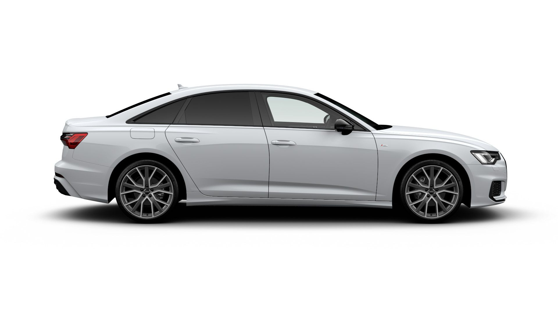 side view of Audi Black edition A6