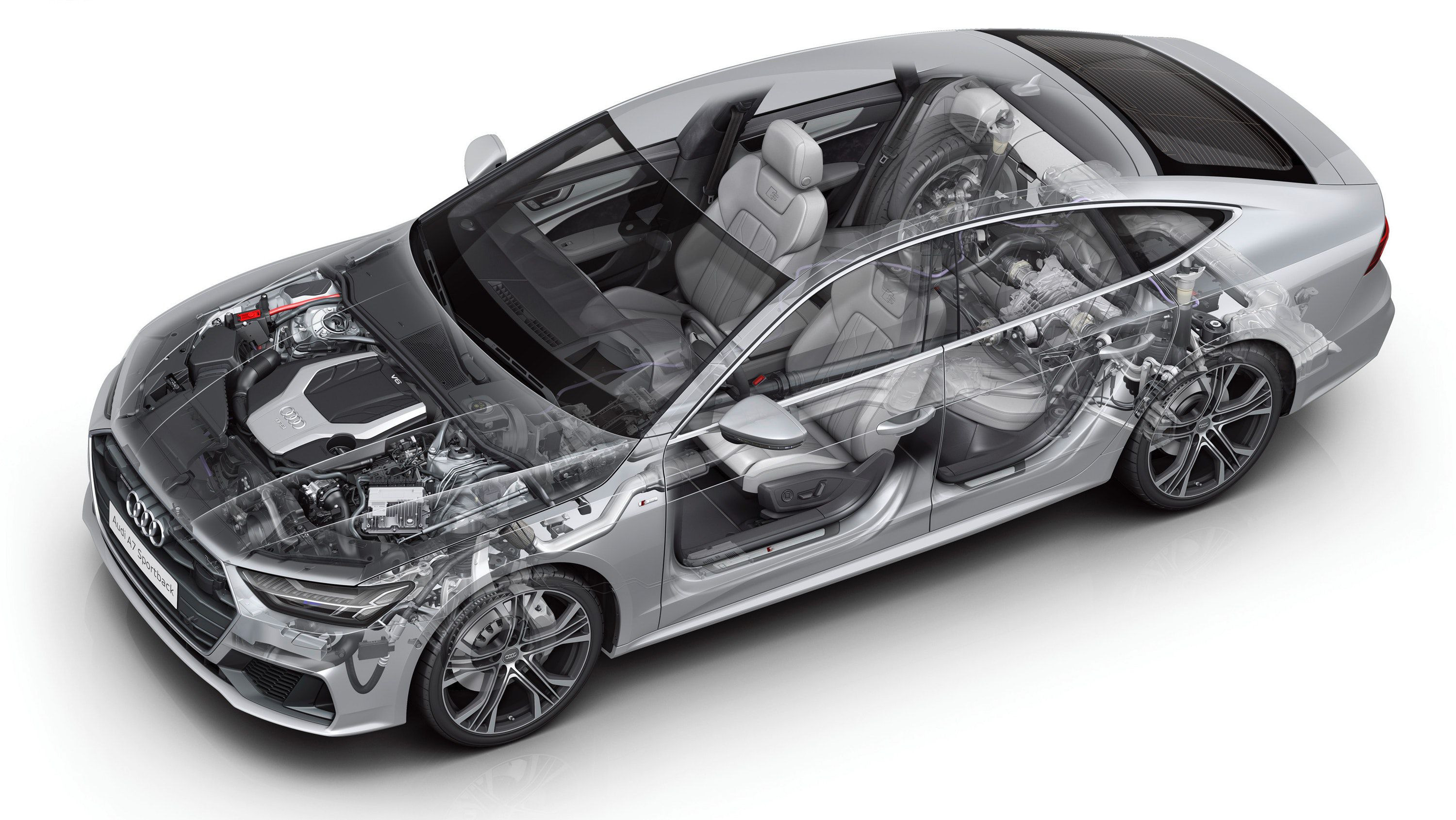 technical view of Audi A7