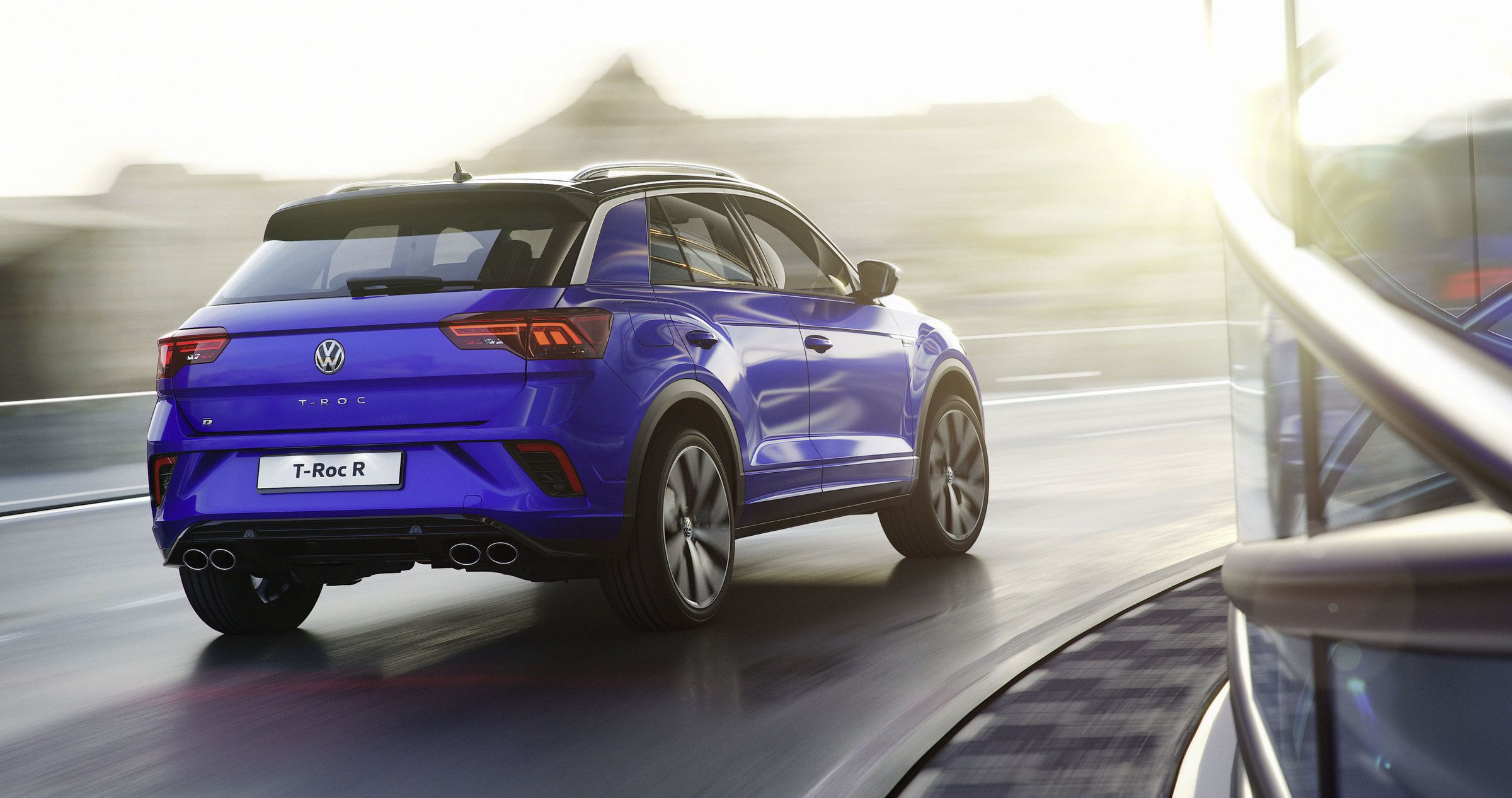 Rear view of a Volkswagen T-Roc R