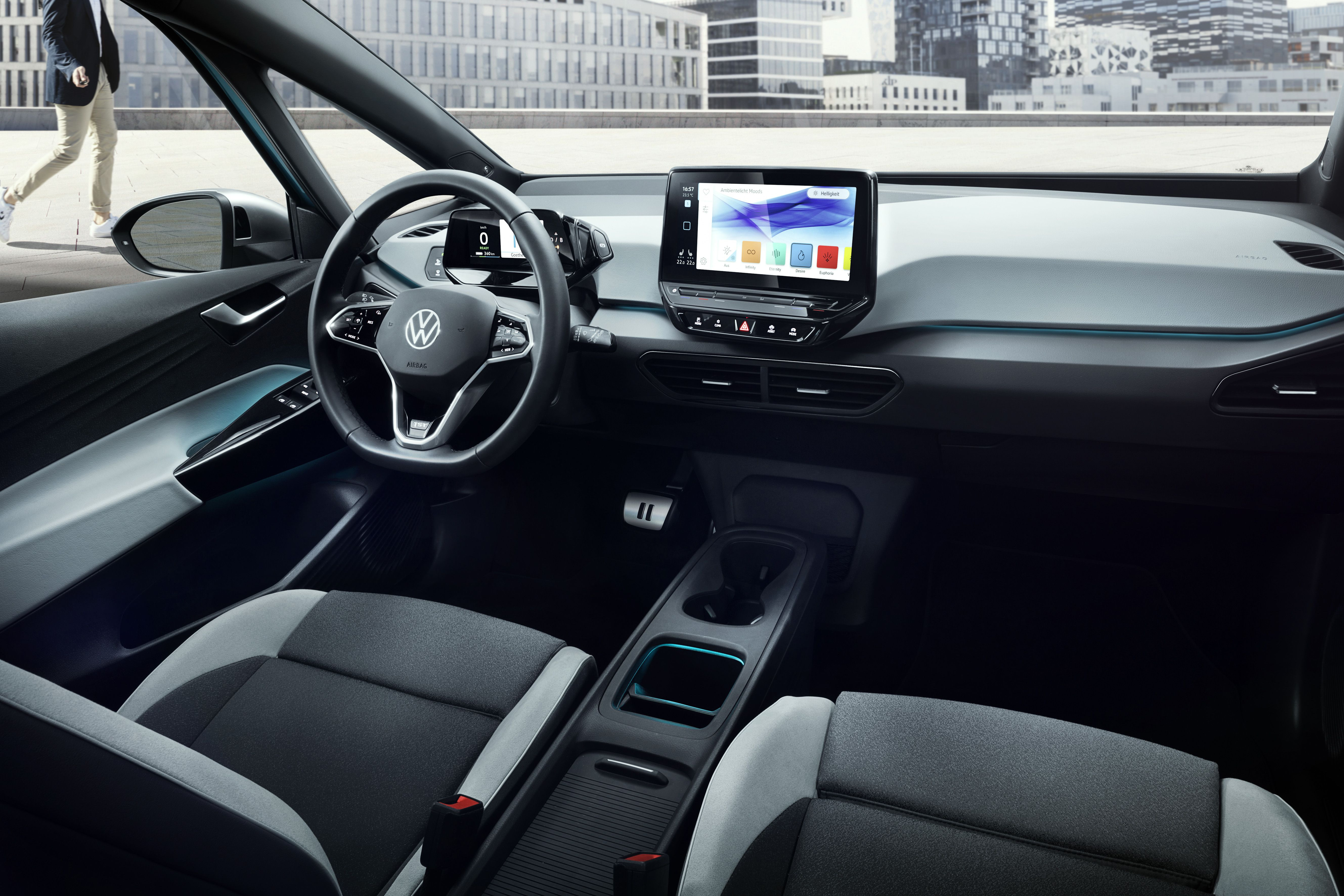 Interior of the Volkswagen ID.3