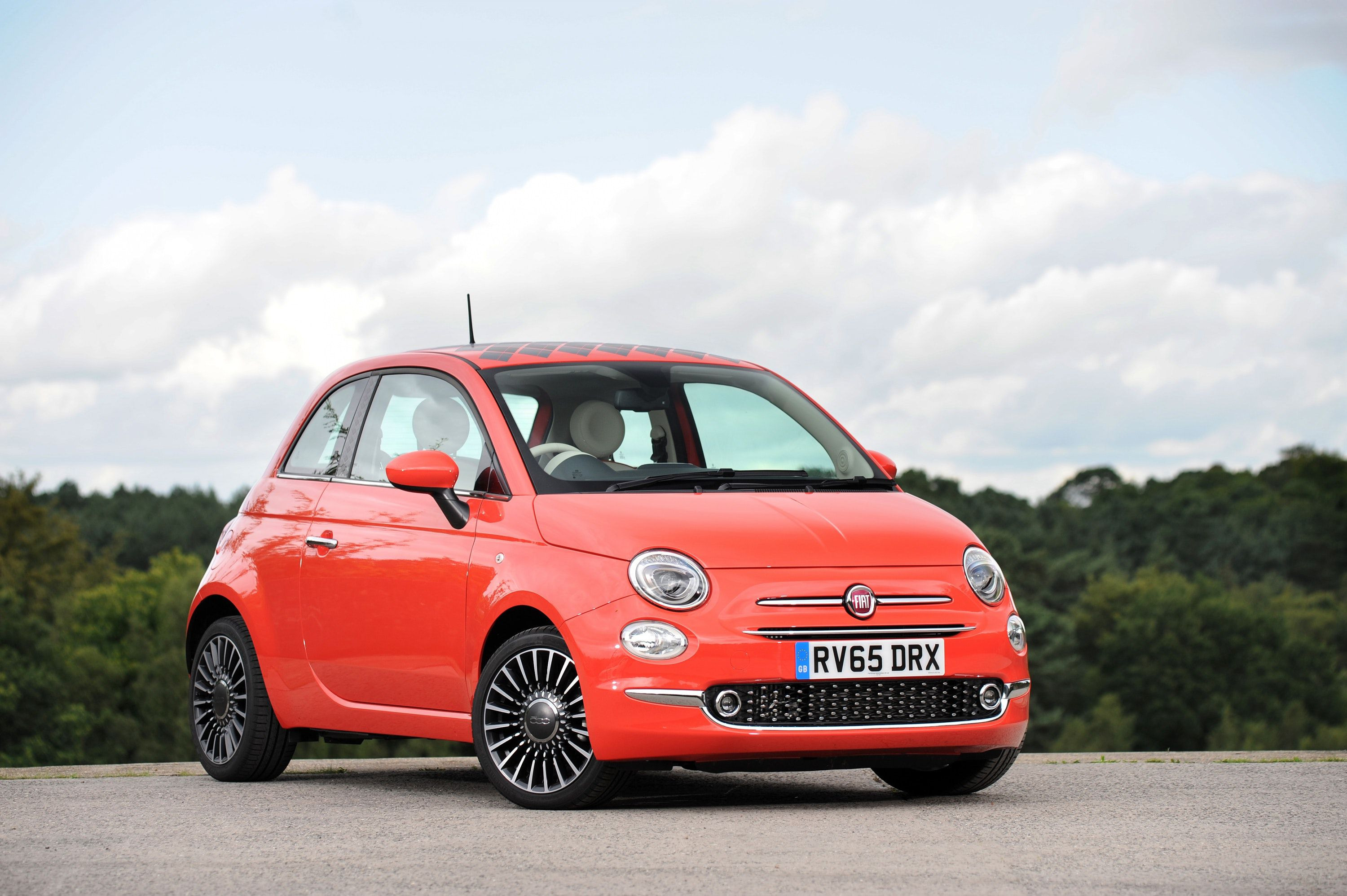 Fiat 500 in red