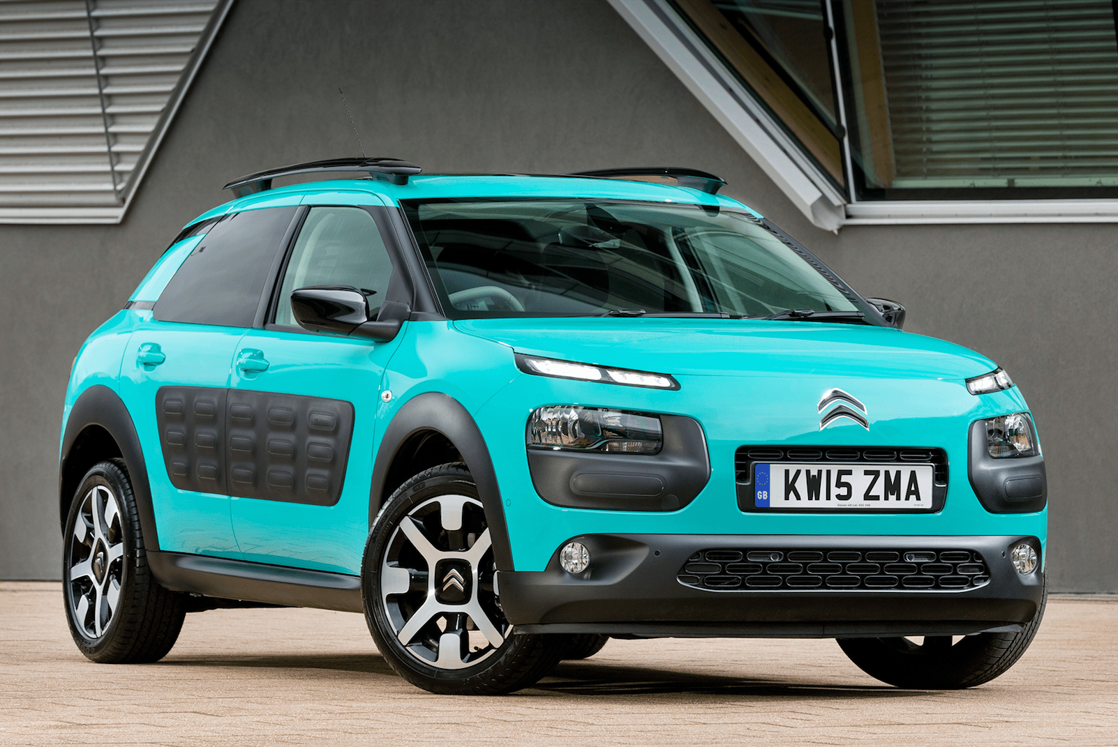 Aquamarine Citroen C4 Cactus with back trim