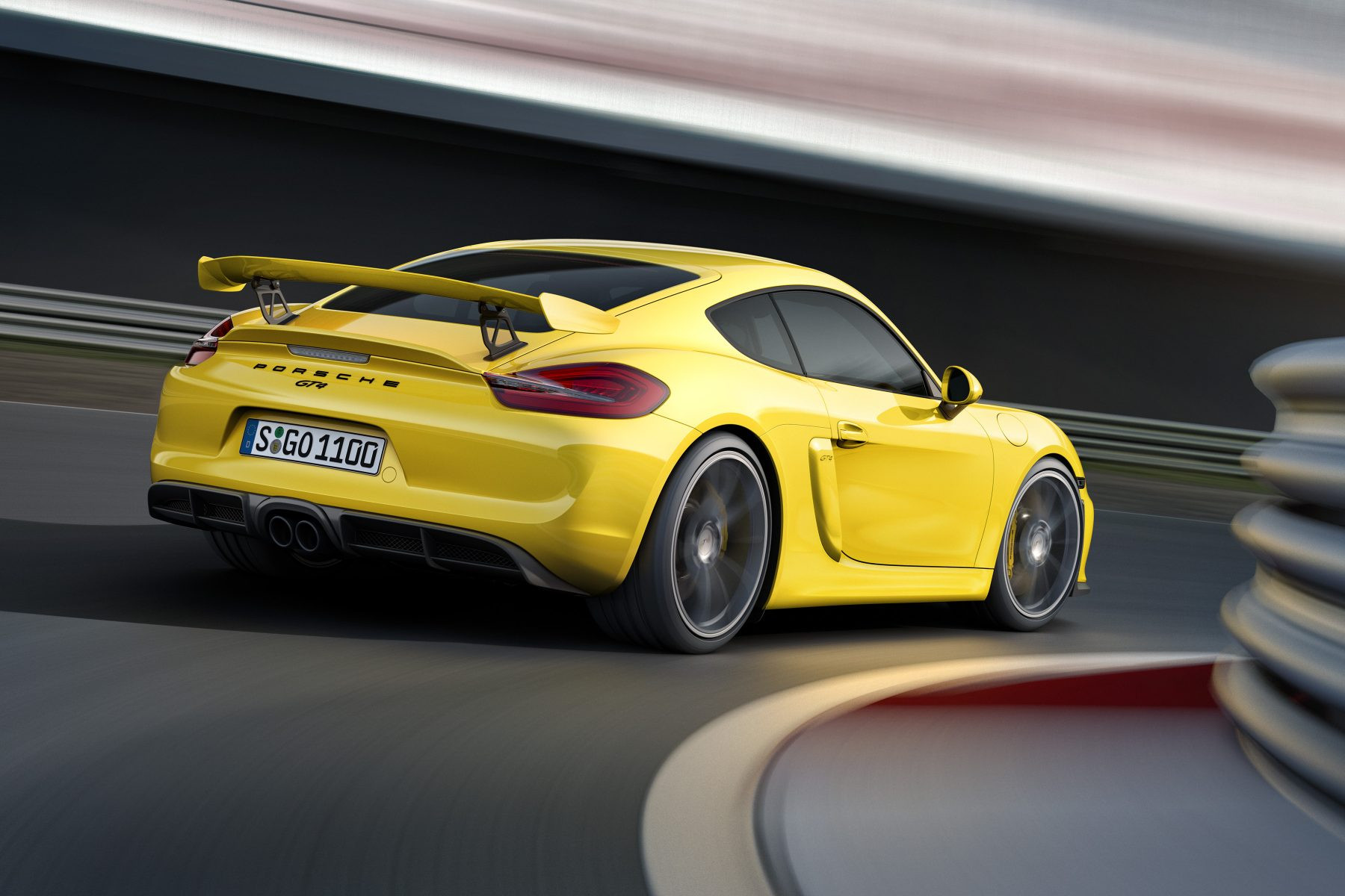 Porsche Cayman in Yellow