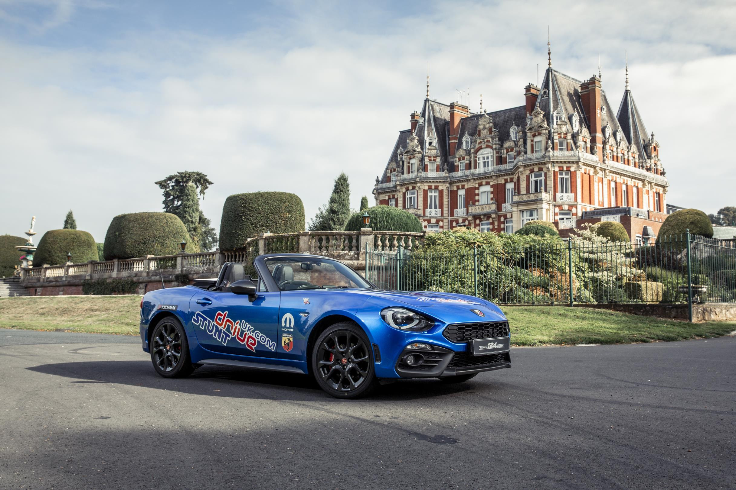 Abarth 124 Spider at the Chateau Impney Hill Climb