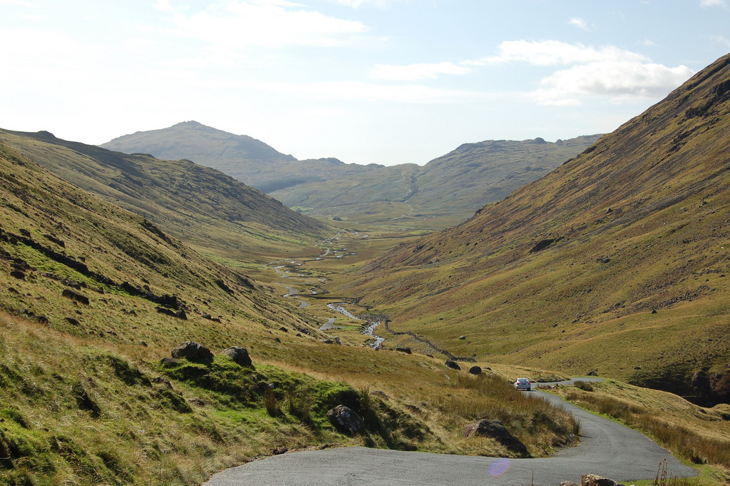 Wrynose and Hardknott Pass in North West England