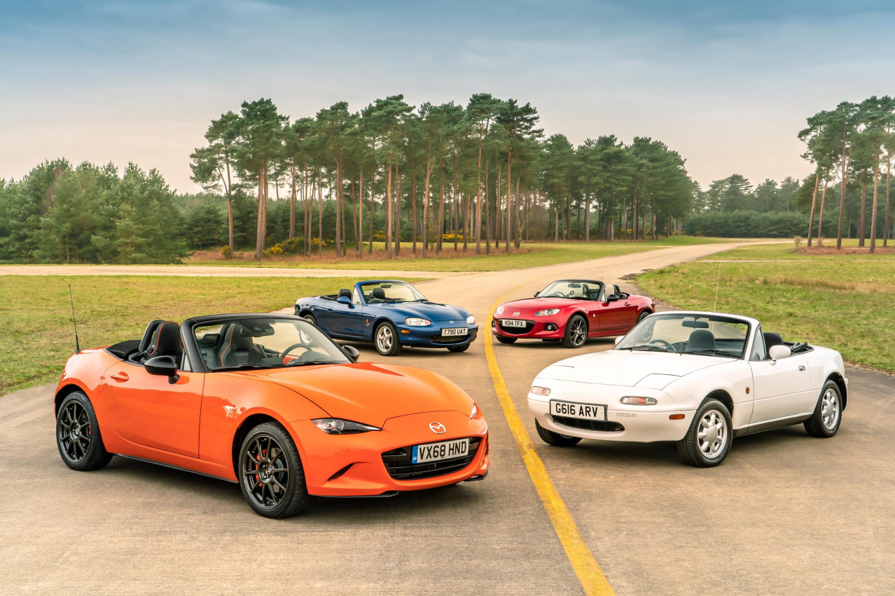 Driving every generation of Mazda MX-5 reveals the roadster's charm