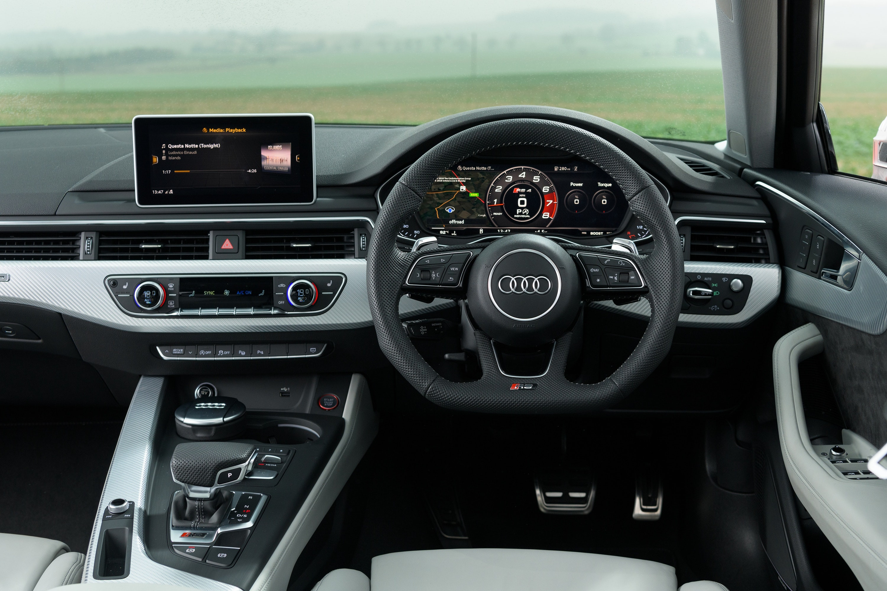 Interior of the Audi RS4 Avant