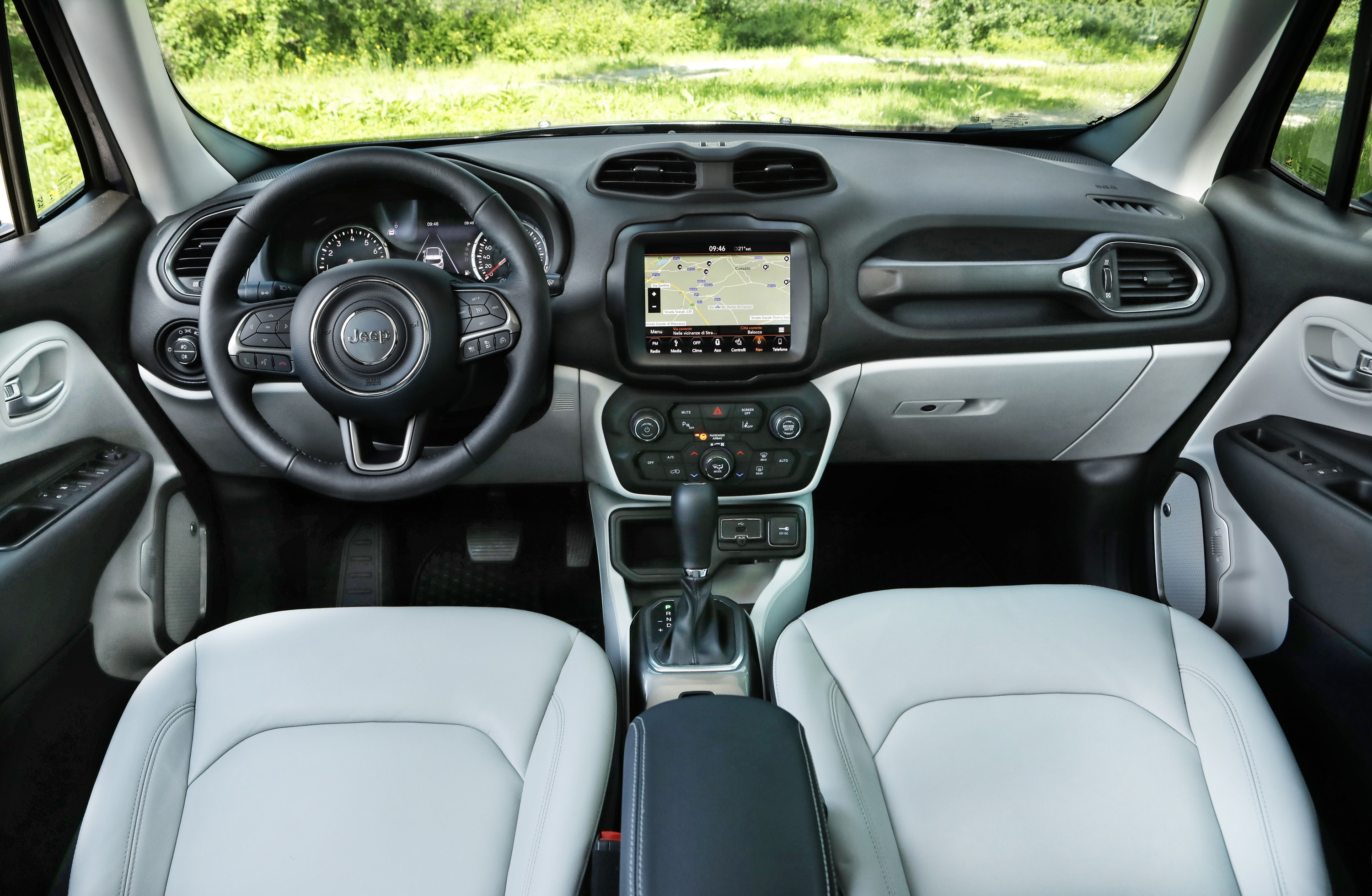 Interior of a Jeep Renegade