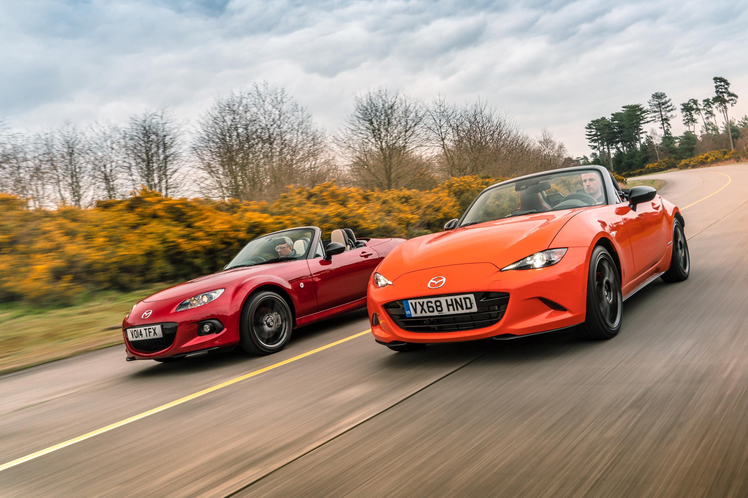 Third and fourth Generation of the Mazda  MX-5
