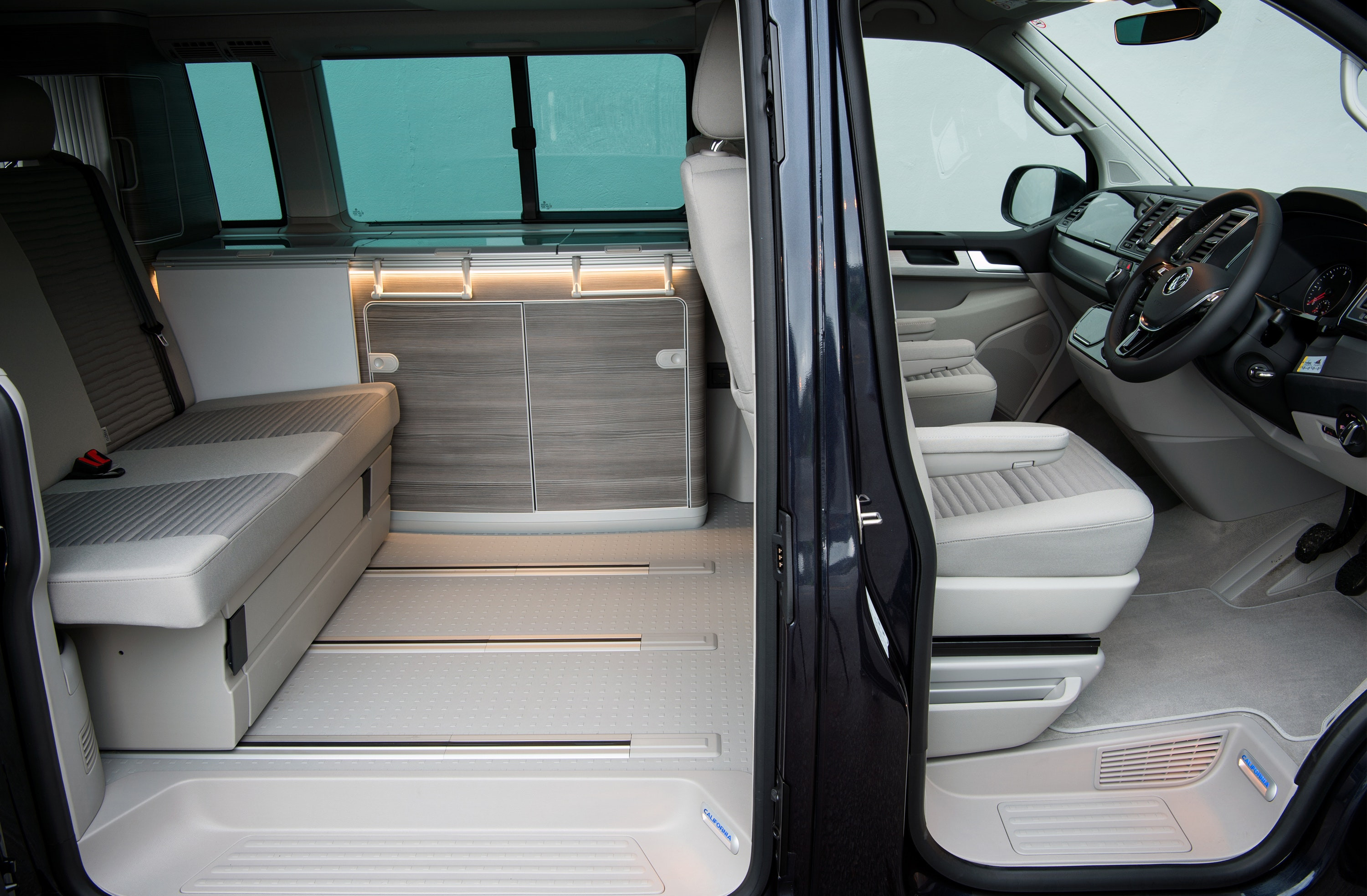 VW California Ocean campervan interior seats