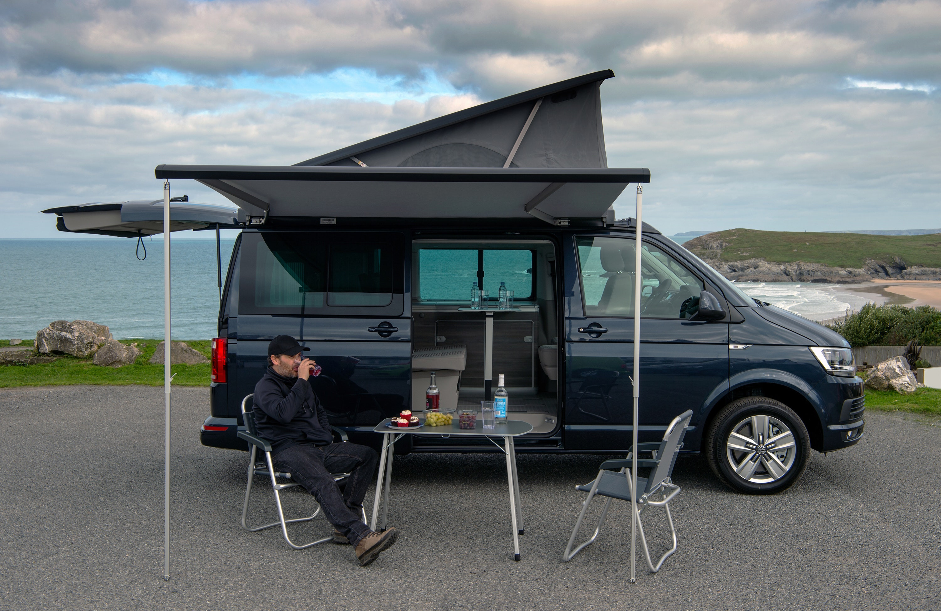 VW California Ocean campervan picnic awning