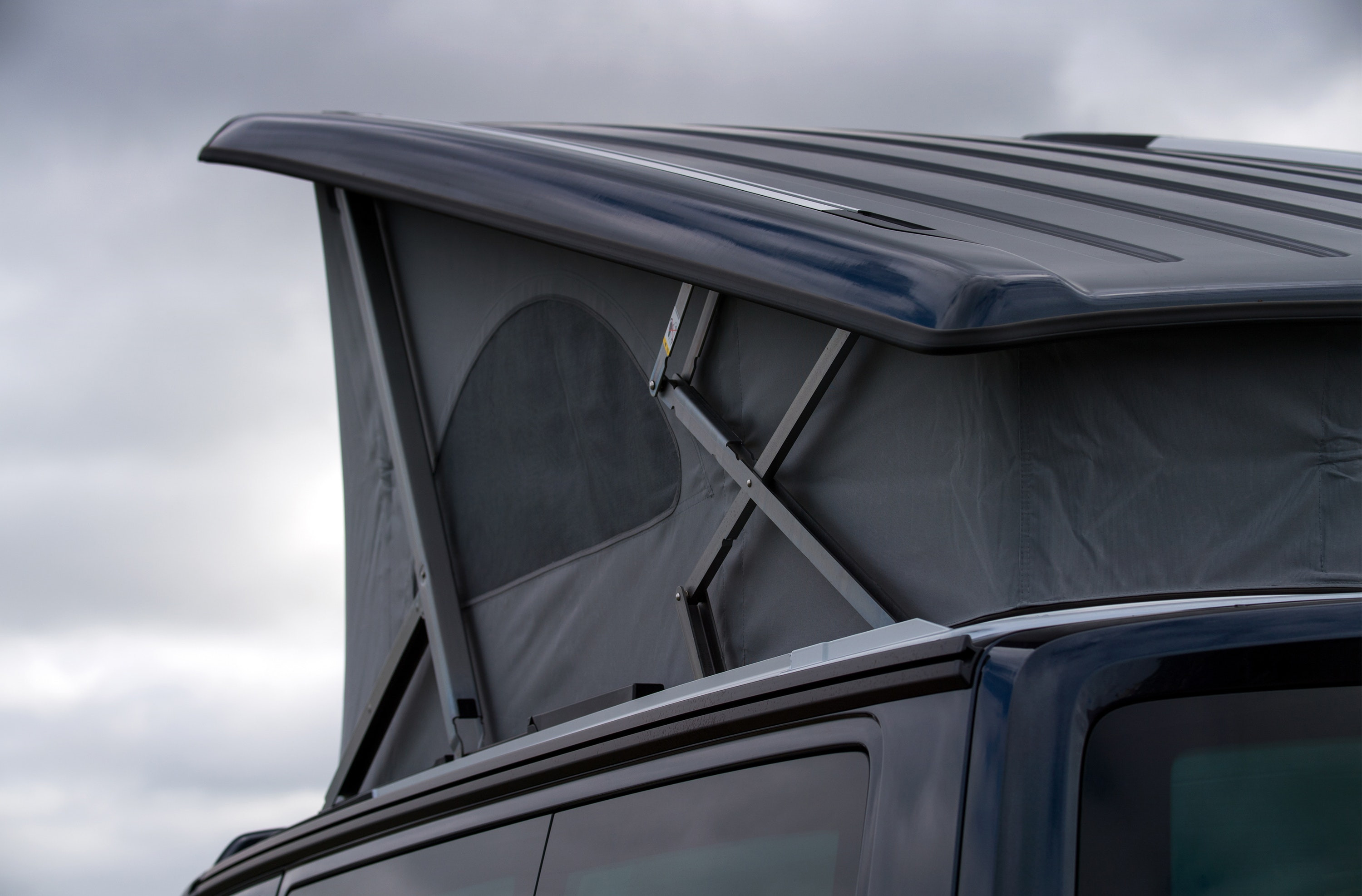VW California Ocean campervan roof up