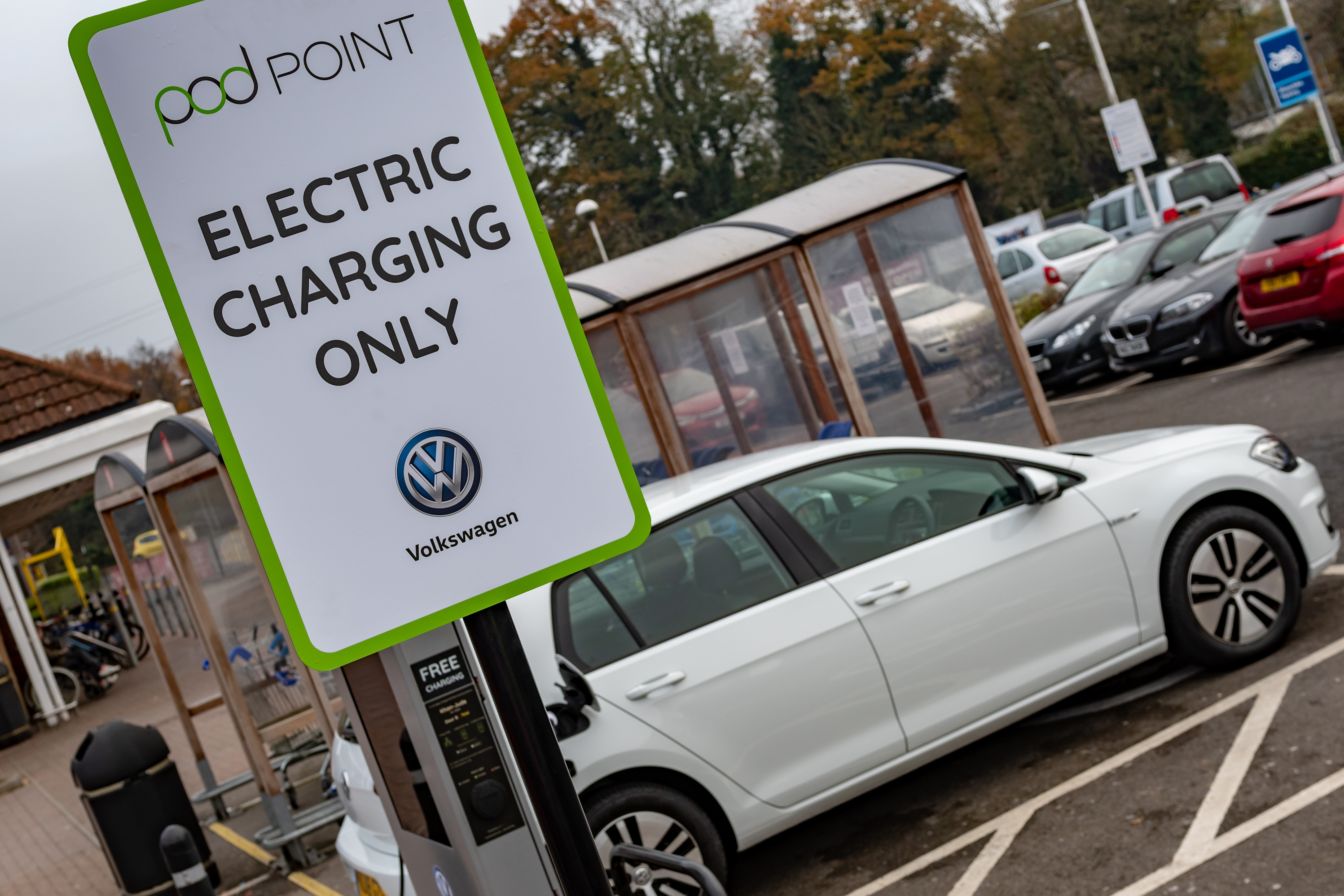 Pod Point Electric Charging Point at Tesco