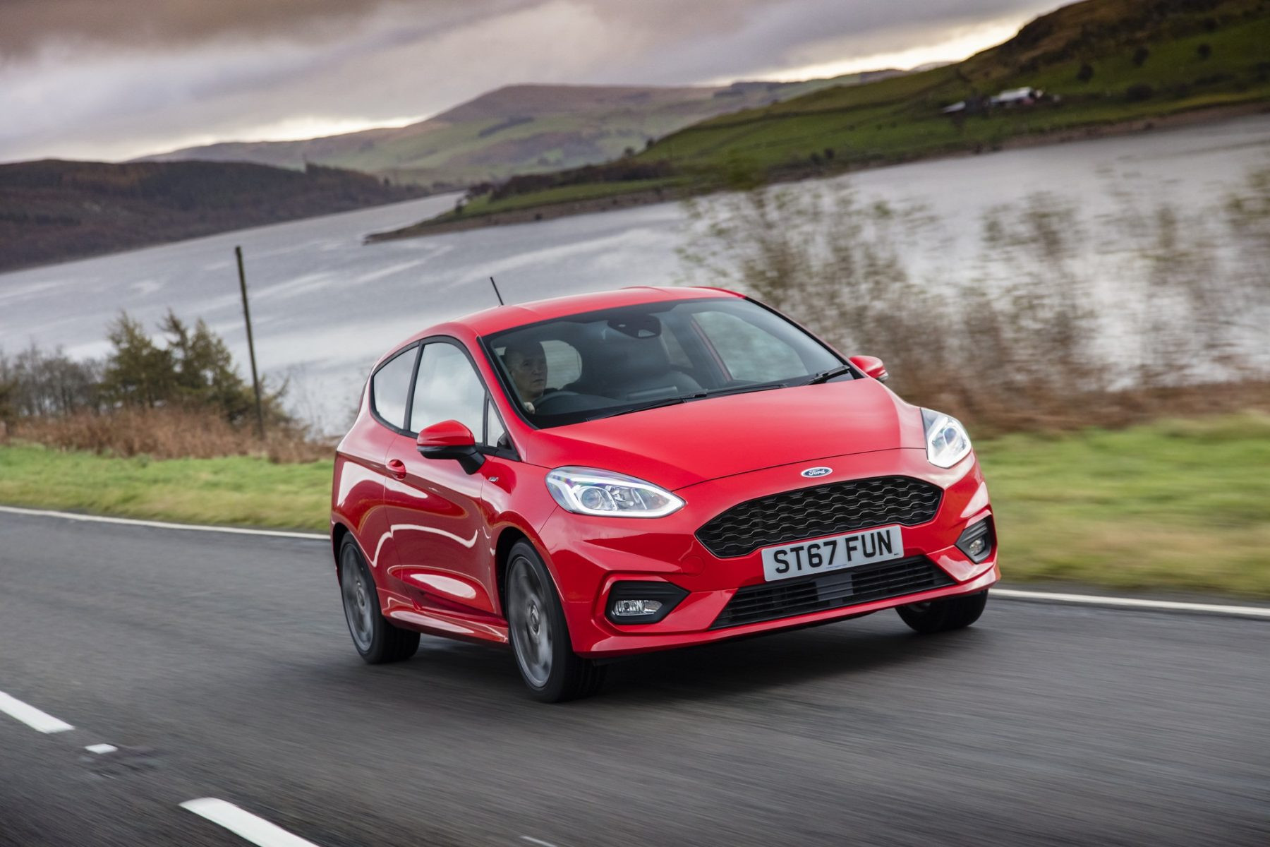 Red Ford Fiesta ST-Line