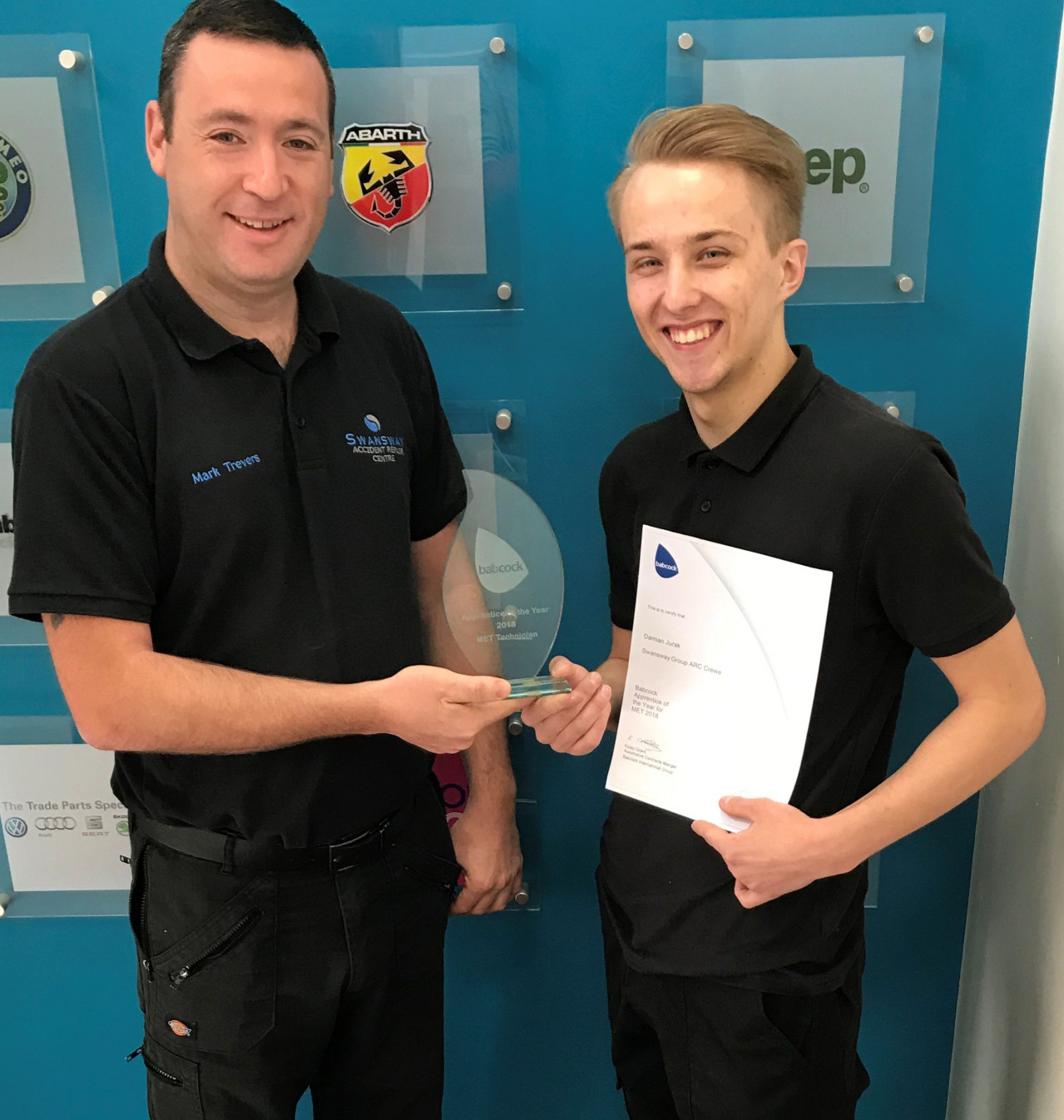 VW Apprentice of the Year Award for Damian