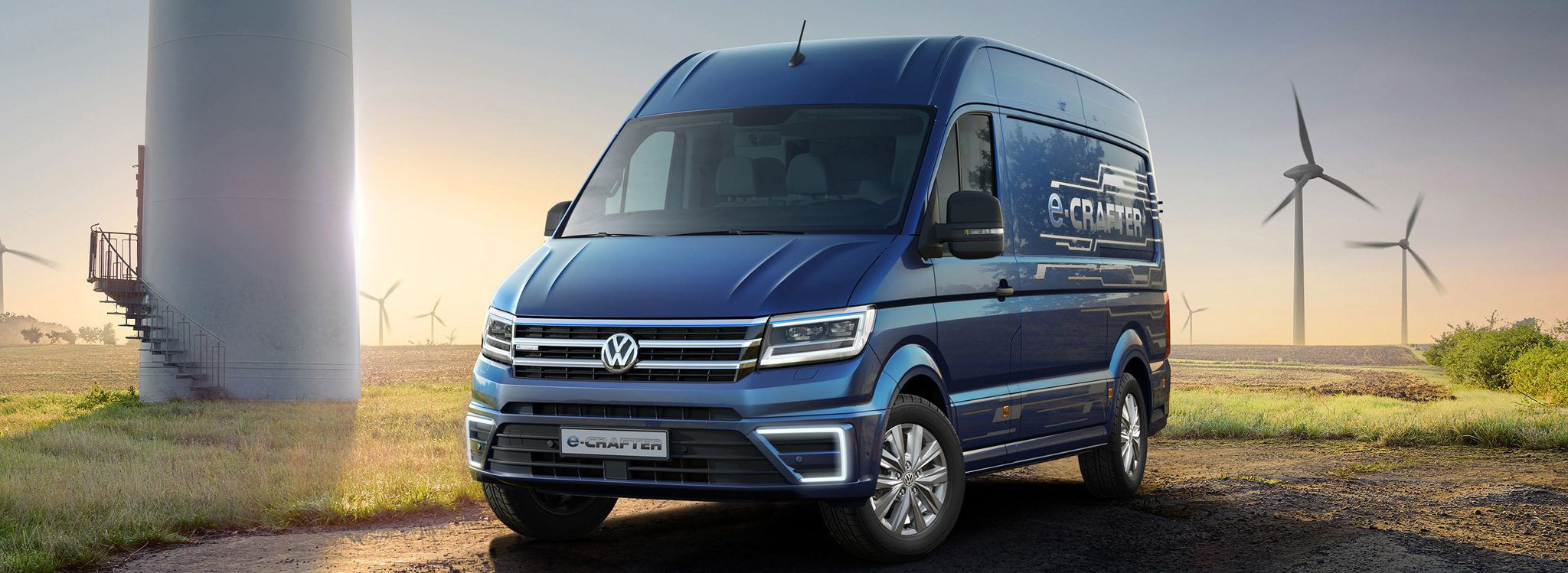 Volkswagen e-Crafter front shot