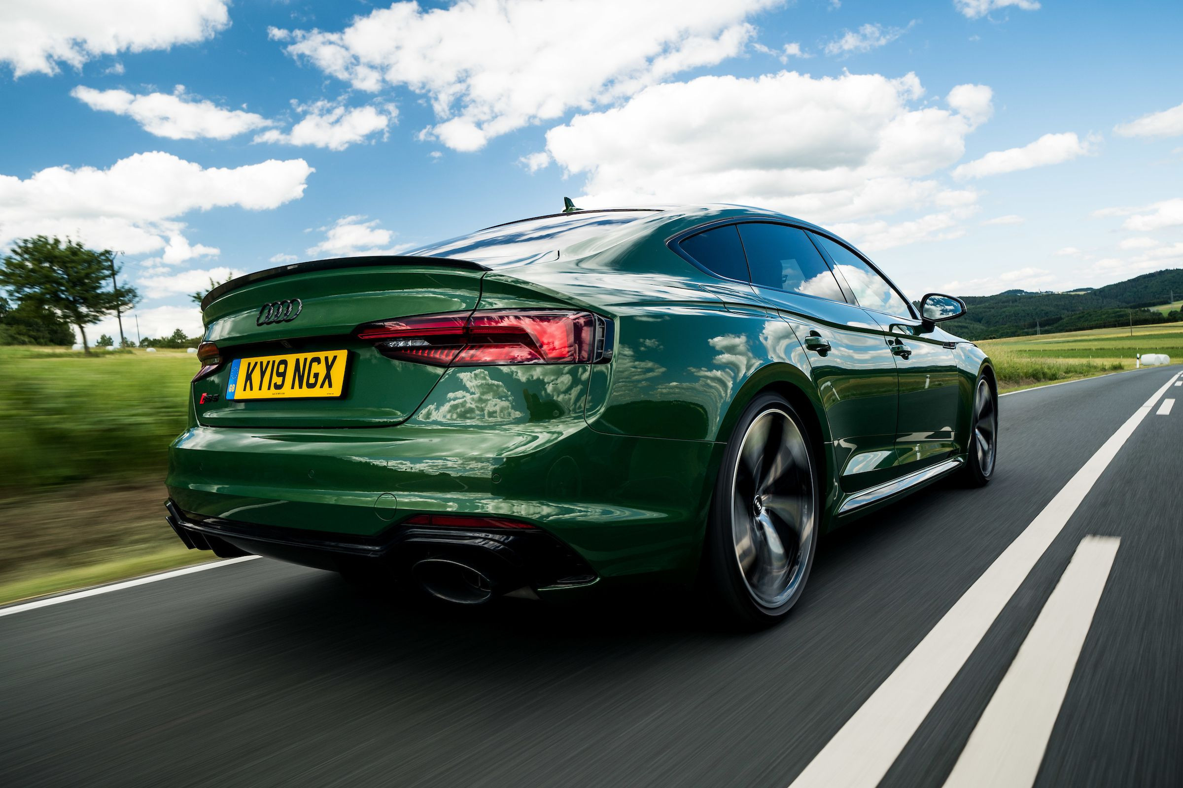 rear view of Audi RS5 Sportback