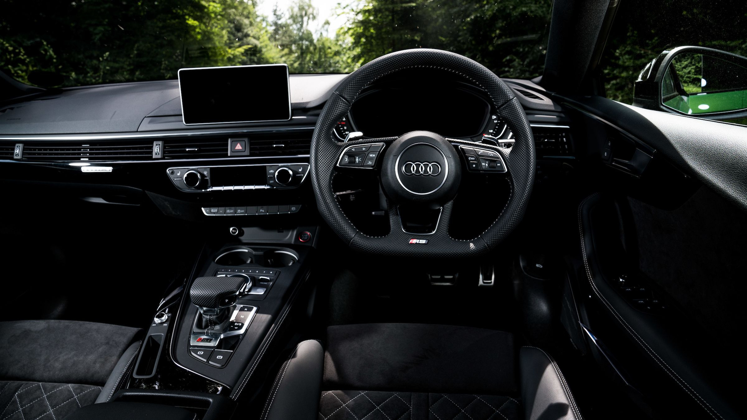 Interior of the Audi RS5 Sportback
