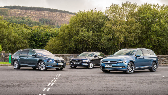Triple Test: Volkswagen Passat estate v Volvo V90 v Skoda Superb estate