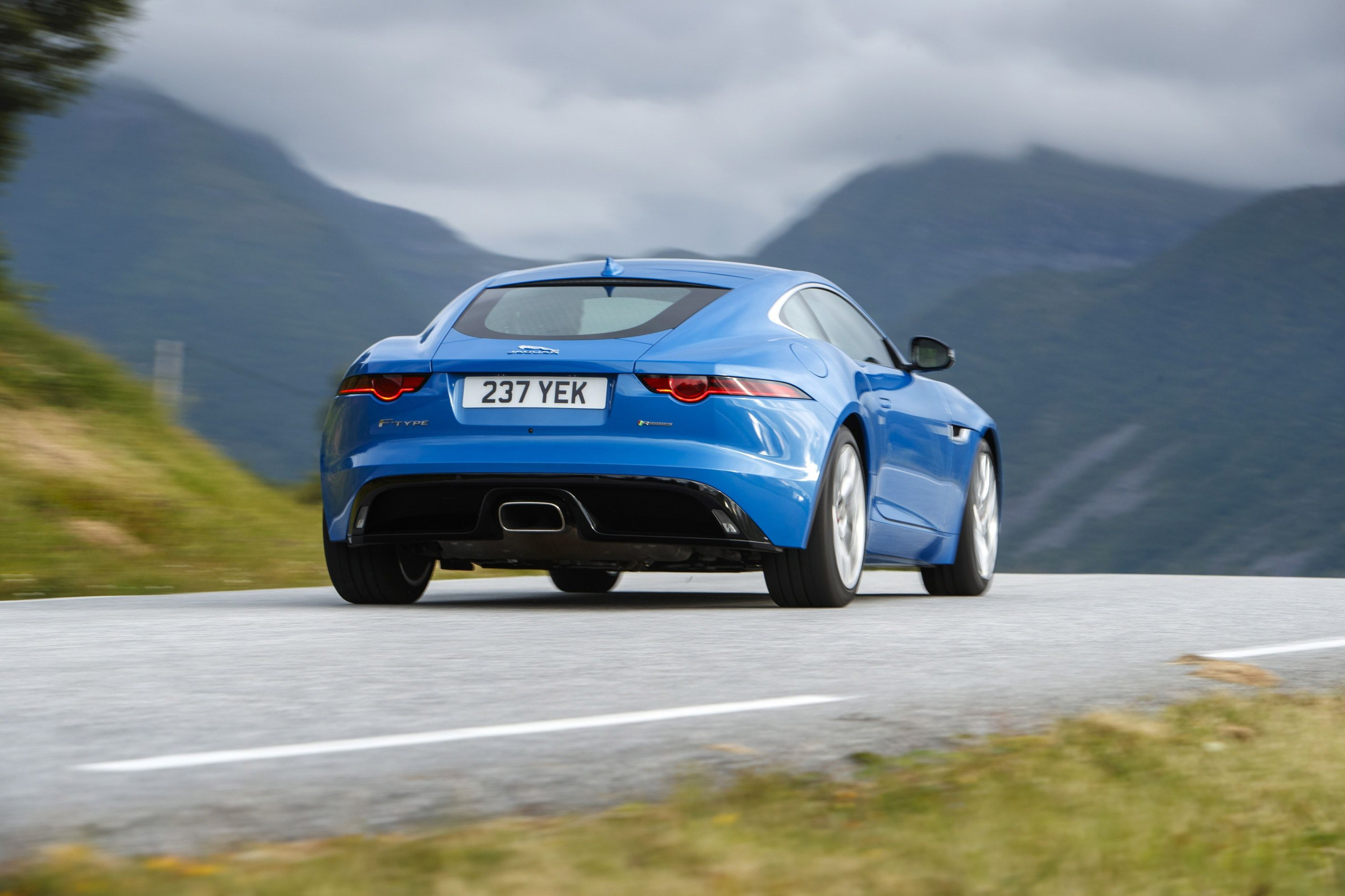Jaguar F-Type from rear