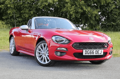 Red Fiat 124 spider for sale
